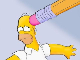 homero borrando Los Simpsons imagenes graciosas
