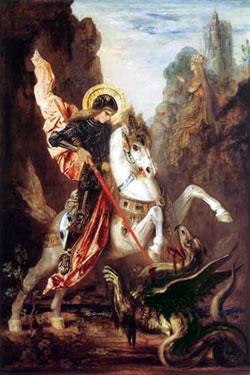San Jorge dominando al Dragón